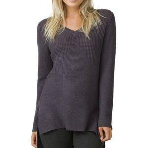 prAna Women's Deedra Sweater Tunic Dark Purple